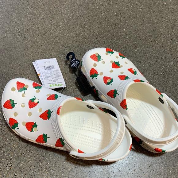 Strawberry crocs s10 brand new